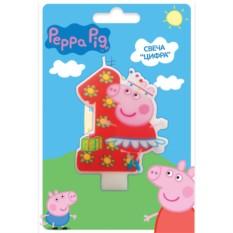 Фигурная свеча «Цифра 1», Peppa Pig