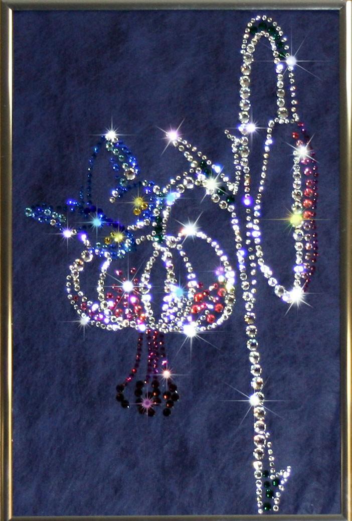 Картина с кристаллами Сваровски Цветение