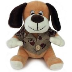 Мягкая музыкальная игрушка Собака, высота 19 см