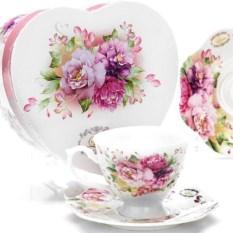 Чайная пара из чашки с блюдцем в подарочной коробке Lorain