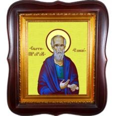 Елисей Святой пророк чудотворец. Икона на холсте.