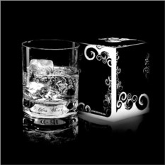 Белый светящийся бокал для виски GlasShine