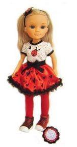 Кукла Нэнси в красно-белом романтическом наряде