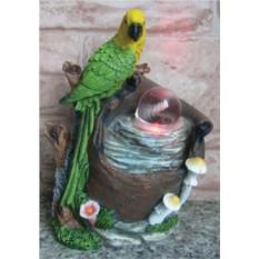 Фонтан с помпой и подсветкой Попугай