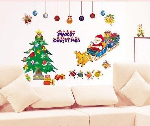 Новогодняя декоративная наклейка