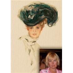 Портрет по фото на холсте в подарок женщине