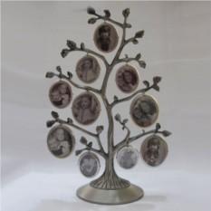 Оригинальная фоторамка Дерево в бронзовом цвете