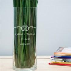 Именная ваза с гравировкой Колокольчики
