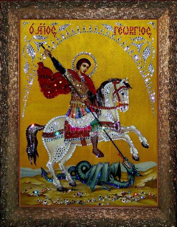 Картина из кристаллов Георгий Победоносец