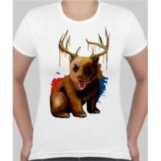 Женская футболка Медведь с рогами