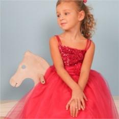 Нарядное платье Красный цветок