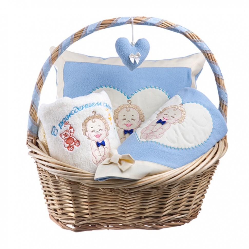 Набор для новорожденного в корзине Сыночек