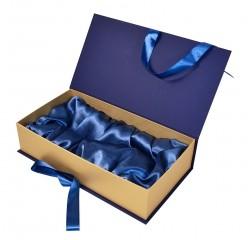 Подарочная коробка-книжка с атласным ложементом