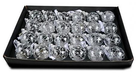 Набор шаров Роял Делюкс Три Орнамента, прозрачный, 60 мм