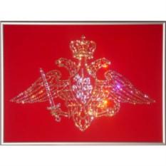 Картина с кристаллами Swarovski Эмблема вооруженных сил