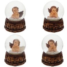 Декоративная фигурка в стеклянном шаре Ангел с крыльями