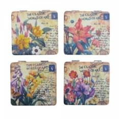 Квадратное карманное зеркальце Цветы