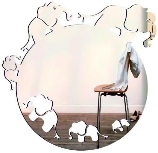 Декоративное зеркало Слоны