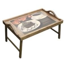 Столик для завтрака в постель Чай, поданный с любовью