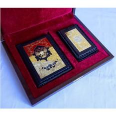 Набор из обложки на автодокументы, кожаной визитницы