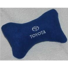Синяя подушка-подголовник Toyota