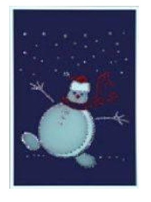 Картина Swarovski Веселый снеговик