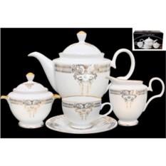 Фарфоровый чайный сервиз из 17 предметов Аристократ