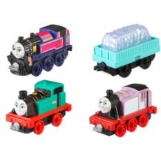 Набор из трех паровозиков с вагончиком Thomas & Friends