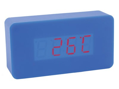 Часы с датой, будильником и термометром