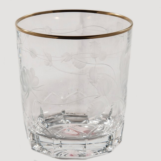 Набор 6 стаканов для виски Arnstadt Crystal Монроуз, прозрачные