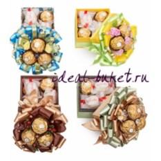 Набор конфет в коробочке с декором