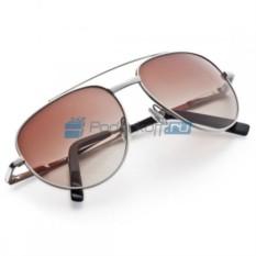 Солнечные очки в кожаном футляре Авиатор