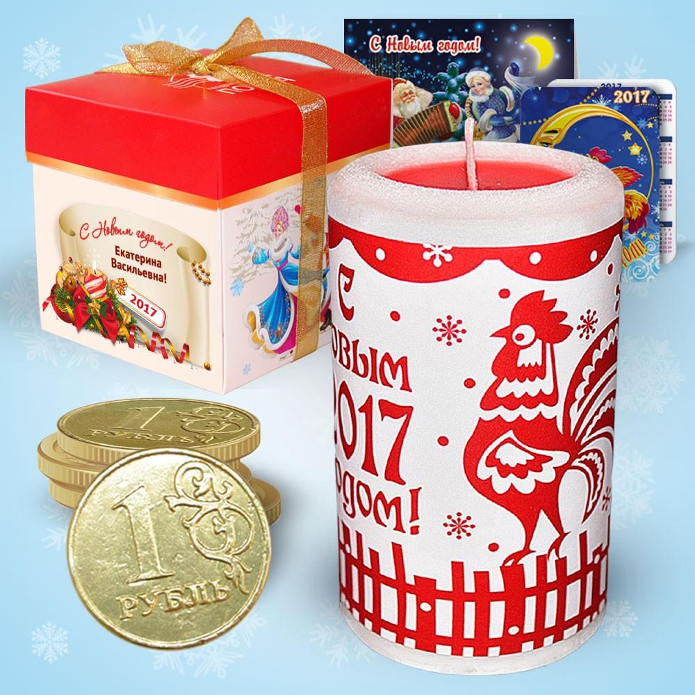 Набор с новогодней свечой «Петушок Золотой гребешок»