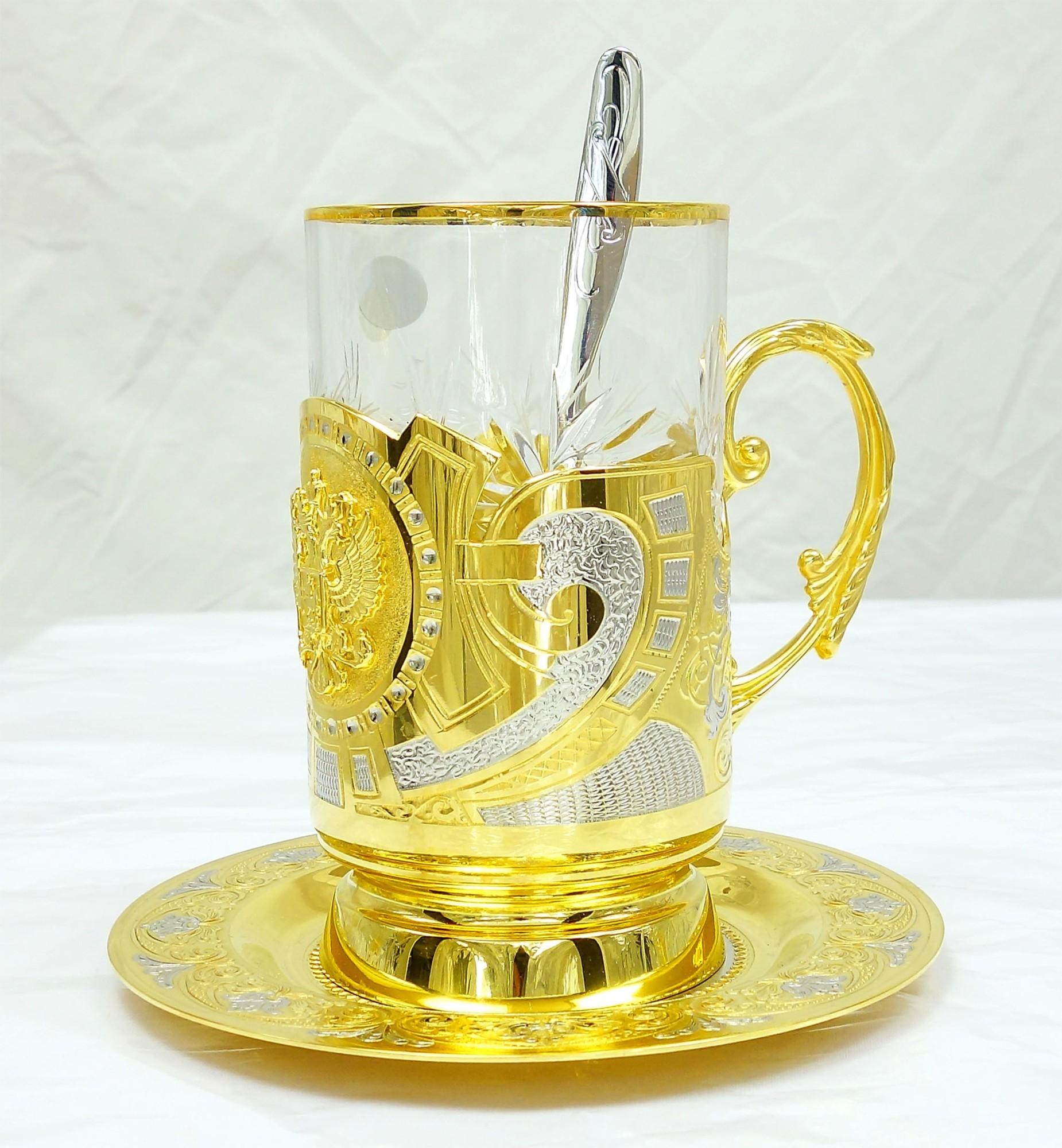 Чайный набор с подстаканником Герб