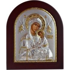Икона в серебряном окладе Страстная Божья Матерь