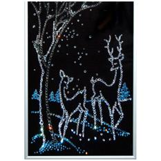 Картина Swarovski «Новогодний пейзаж»