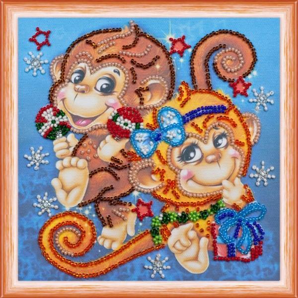 Набор для вышивания Веселые обезьянки