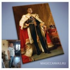Портрет по фото на холсте в образе Императора
