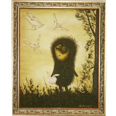 Картина «Ёжик у дерева»