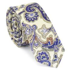 Узкий галстук (бирюзовые огурцы)