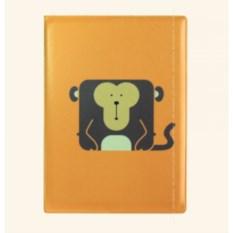 Пластиковая обложка на паспорт Обезьянка