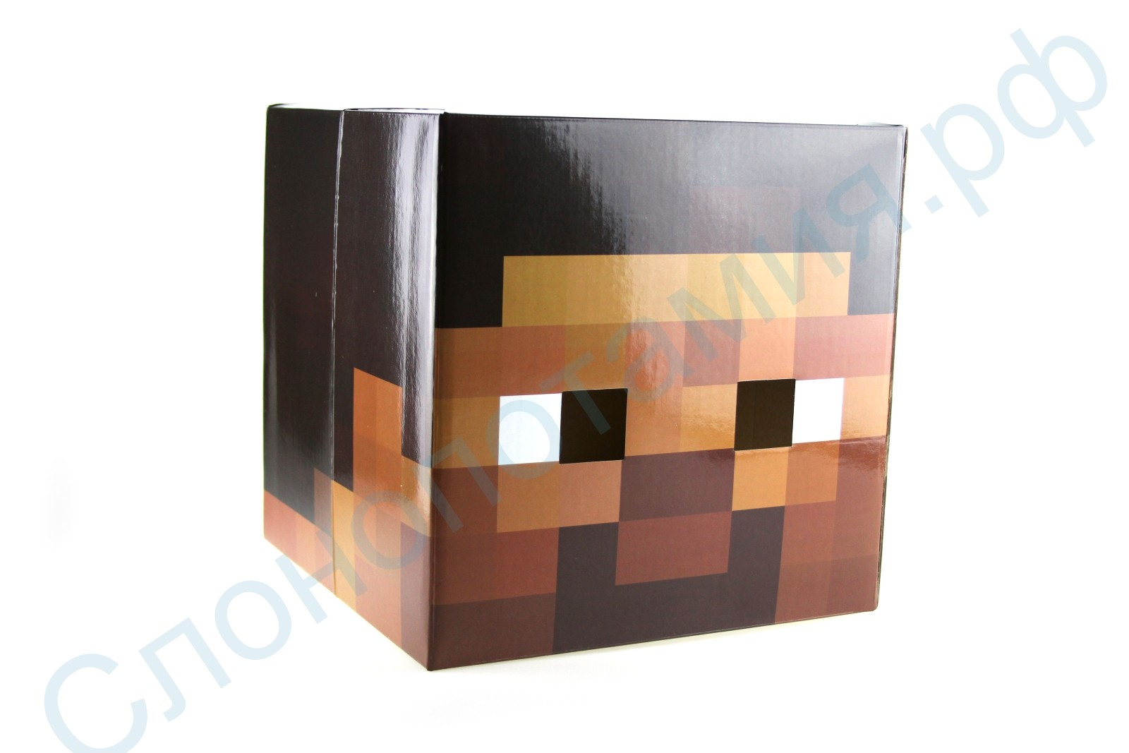 Картонная маска Steave Head из Майнкрафт