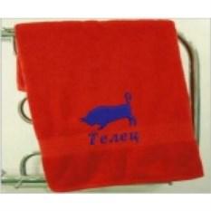 Махровое полотенце Знак зодиака: телец