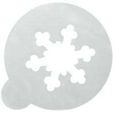 Трафарет для кофе и десерта Снежинка