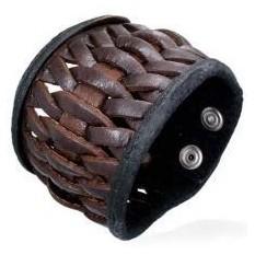 Кожаный мужской браслет Fashion Steel BBF552