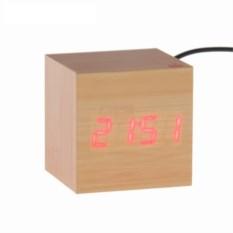 Часы-будильник Деревянный кубик hi-tech