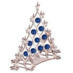 Сборная елка с синими шариками Новогодний ажур