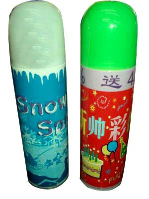 Баллончик с серпантином или искусственным снегом