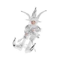 Интерактивное новогоднее украшение Белый арлекин