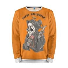 Мужской оранжевый свитшот Happy Halloween